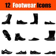 Set of man's footwear icons Stock Illustration