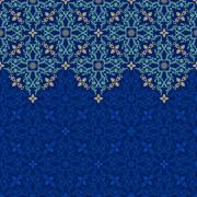 Stock Illustration of Vector seamless border pattern oriental ornament for design