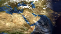 Planet Earth Map - Middle East - Evening Time-lapse (4k UHD) Stock Footage