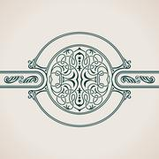 Vintage Decorative Elements Flourishes Calligraphic Ornament Stock Illustration