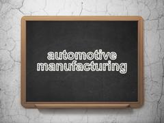 Industry concept: Automotive Manufacturing on chalkboard background - stock illustration