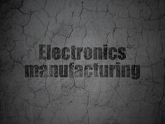 Manufacuring concept: Electronics Manufacturing on grunge wall background Piirros