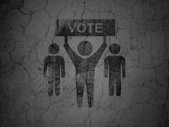 Political concept: Election Campaign on grunge wall background - stock illustration