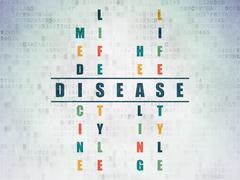 Health concept: Disease in Crossword Puzzle Stock Illustration