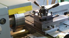Turning lathe. Footage Stock Footage