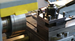 Turning lathe. Footage Stock Footage