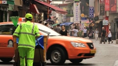 People walk by the Insadong street in Seoul, Korea. Stock Footage