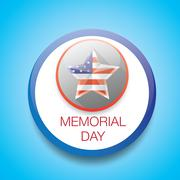 Stock Illustration of Memorial Day with star in national flag colors