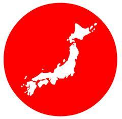 Map of Japan Design Stock Illustration