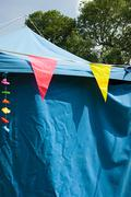 Bunting on a marquee - stock photo