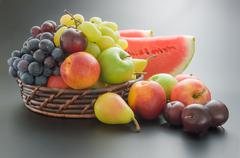 Fruits arrangement Stock Photos