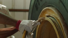 Repairing Wheel By A Qualified Mechanic Stock Footage