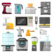 Home electronics appliances elements infographics template concept vector Stock Illustration