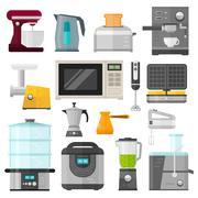Home electronics appliances elements infographics template concept vector - stock illustration