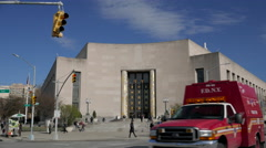 Brooklyn Library at Grand Army Plaza in Brooklyn Stock Footage