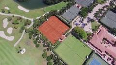 Aerial Fisher Island Miami, Florida Arkistovideo