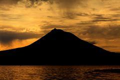 Pico Mountain from Azores, Portugal Stock Photos