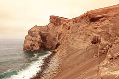 Volcanic landscape from Faial Island, Azores Stock Photos