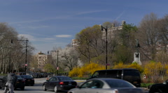 Grand Army Plaza in Brooklyn New York - stock footage