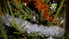 A glass christmas tree ornament zoom in - stock footage