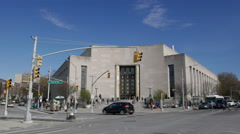 The Brooklyn Library Near Prospect Park Stock Footage
