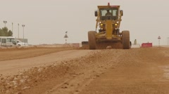 Earthmovers Working At New Project Stock Footage
