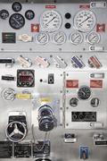 Close up of control panel gauges Stock Photos