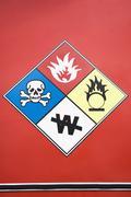 Close up of hazard warning symbols Kuvituskuvat