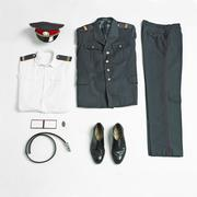Organized military uniform and equipment Stock Photos