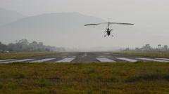 Landing of ultralight Stock Footage