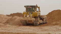 Excavator Machine Doing Earthmoving Work Stock Footage