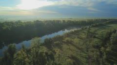 Morning mist in the sun. - stock footage