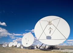 Communications antenna brewster washington - stock photo