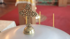 Christening Russian orthodox Church Stock Footage