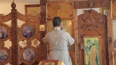Christening Russian orthodox Church Stock Footage