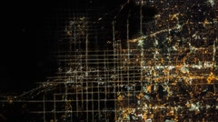 Static Aerial View Of Major City During A BlackOut Power Outage Stock Footage