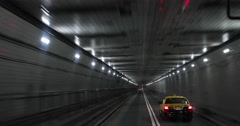 Driving Through Tunnel in New York City 4k Stock Video - stock footage