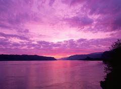 Columbia river gorge oregon - stock photo