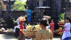 Indonesian people celebrate Balinese New Year, Ubud, Bali, Indonesia Stock Footage