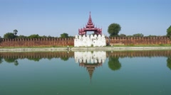 Wall of Fort or Royal Palace in Mandalay Stock Footage