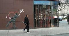 I Love New York Street Art 4K Stock Video - stock footage