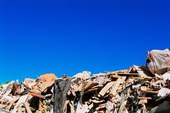 Rubbish in a dump - stock photo