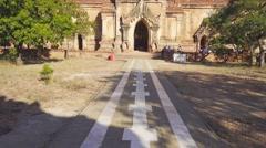 Htilominlo Pagoda in Bagan, Myanmar (Burma), tilt Stock Footage