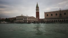 Italy Venice St Mark Bell Tower Stock Footage