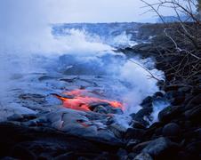 Lava flow of kilauea volcano Kuvituskuvat