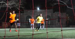 New York City Soccer Playing 4k Stock Video - stock footage