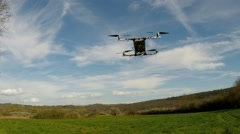 Flight of Quad Copter Slow Motion Stock Footage