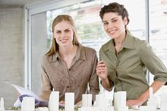 Young female architects Stock Photos