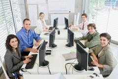 Happy colleagues Stock Photos
