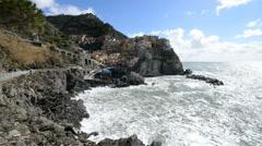 Stock Video Footage of Manarola, Liguria, Italy, EU, Europe